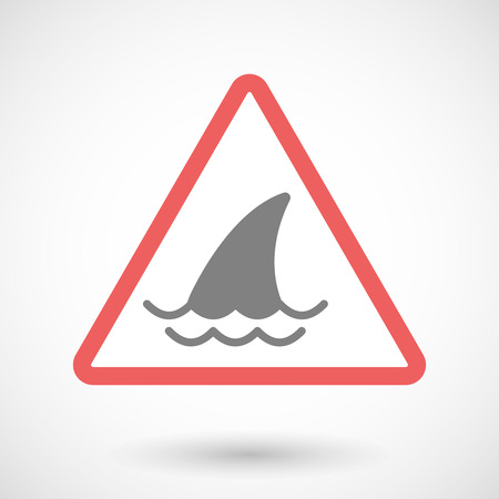 Illustration of a warning signal with a shark fin