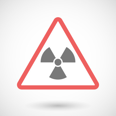 caution chemistry: Illustration of a warning signal with a radio activity sign