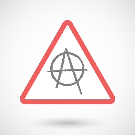 anarchy: Illustration of a warning signal with an anarchy sign
