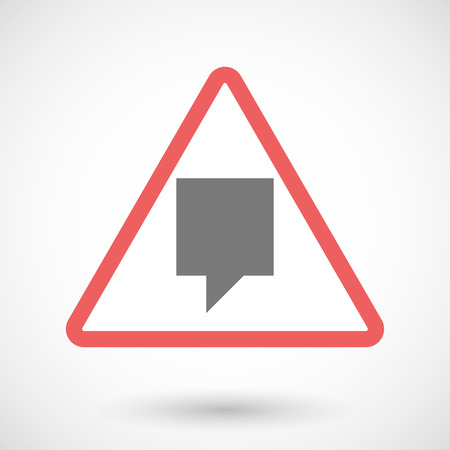 tooltip: Illustration of a warning signal with a tooltip
