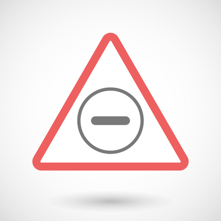 subtraction: Illustration of a warning signal with a subtraction sign