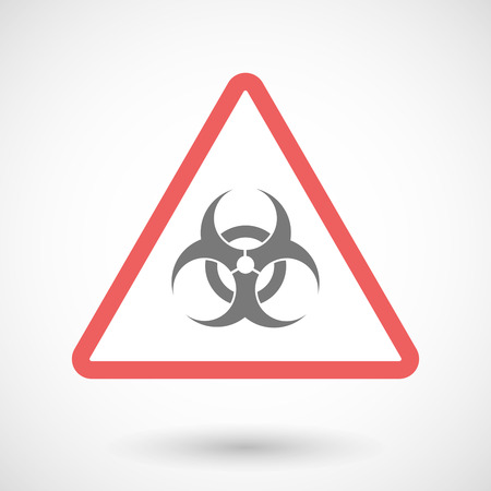 biohazard sign: Illustration of a warning signal with a biohazard sign