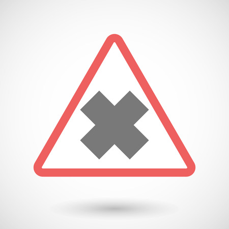 oxidizing: Illustration of a warning signal with an irritating substance sign