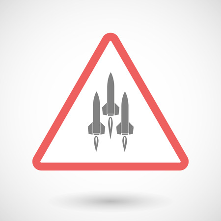 missiles: Illustration of a warning signal with missiles