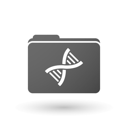 transgenic: Illustration of an isolated folder with a DNA sign