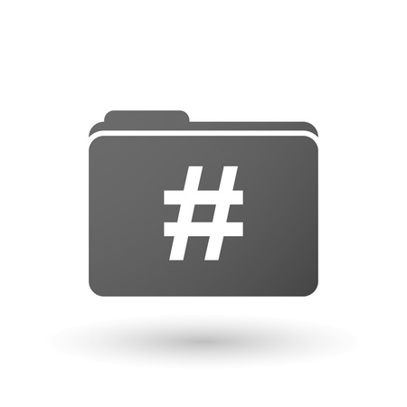 hash: Illustration of an isolated folder with a hash tag