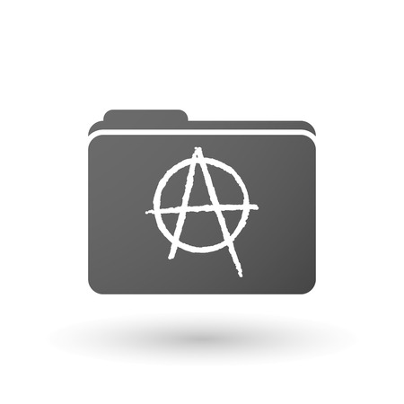 anarchist: Illustration of an isolated folder with an anarchy sign
