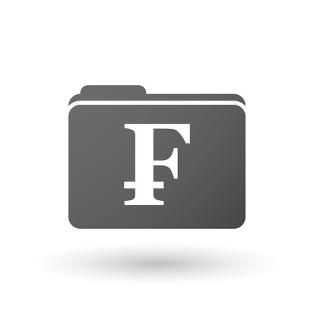 swiss franc: Illustration of an isolated folder with a swiss franc sign