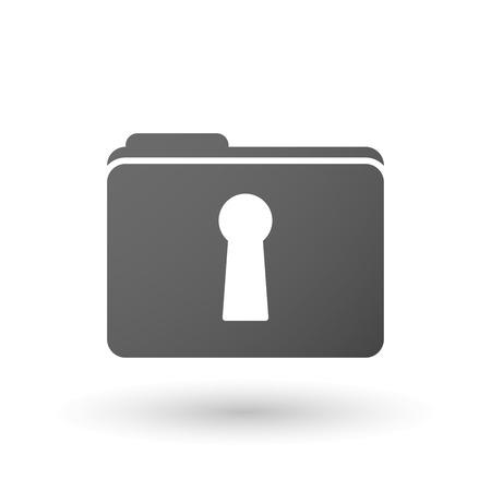 key hole: Illustration of an isolated folder with a key hole