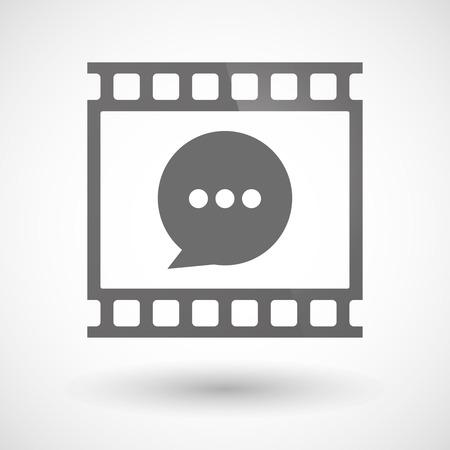 tiras comicas: Ilustraci�n de un icono de pel�cula fotogr�fica con un globo de c�mic
