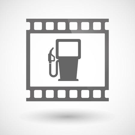 ガソリン スタンドの写真フィルム アイコンのイラスト