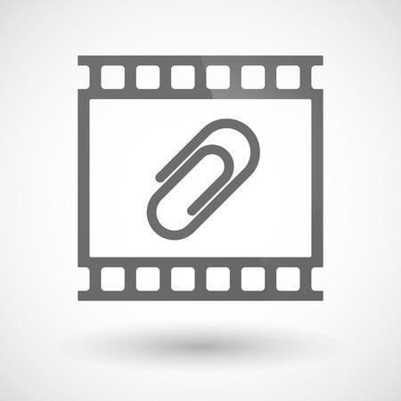 クリップと写真フィルムのアイコンの図