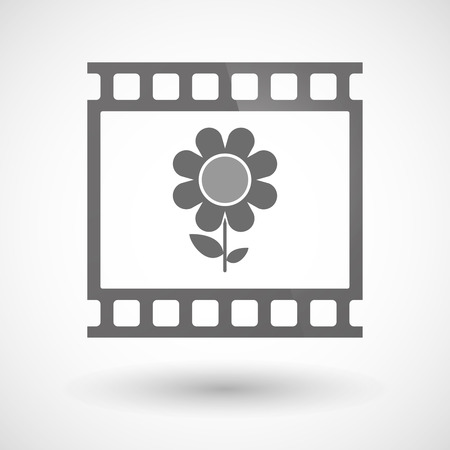 photographic film: Illustration of a photographic film icon with a flower Illustration