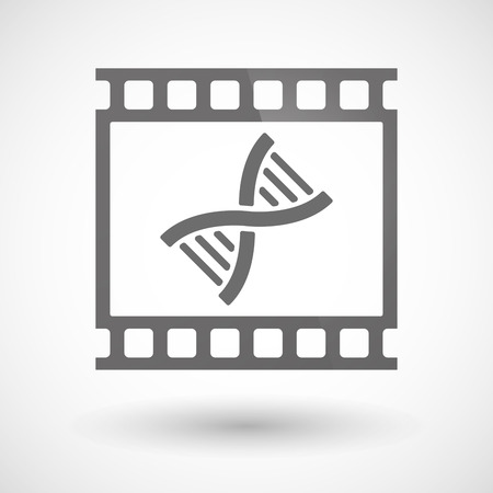 transgenic: Illustration of a photographic film icon with a DNA sign