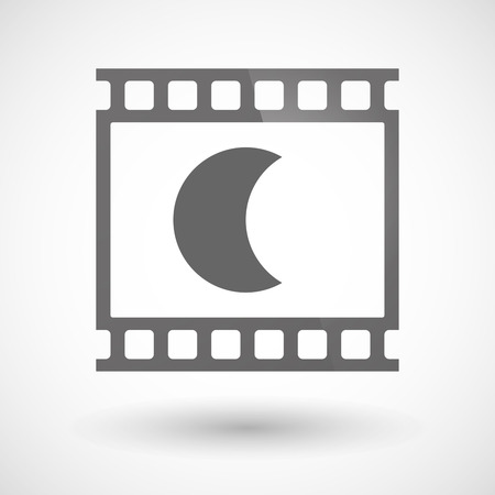 photographic film: Illustration of a photographic film icon with a moon