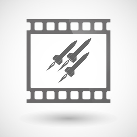 ballistic missile: Illustration of a photographic film icon with missiles