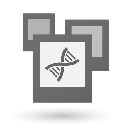 transgenic: Illustration of an isolated group of photos with a DNA sign Illustration