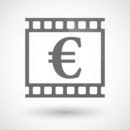 photographic film: Illustration of a photographic film icon with an euro sign
