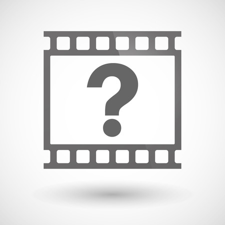 photographic film: Illustration of a photographic film icon with a question sign Illustration