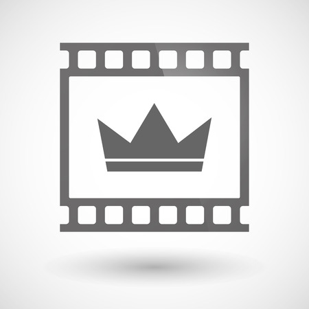 photographic film: Illustration of a photographic film icon with a crown Illustration