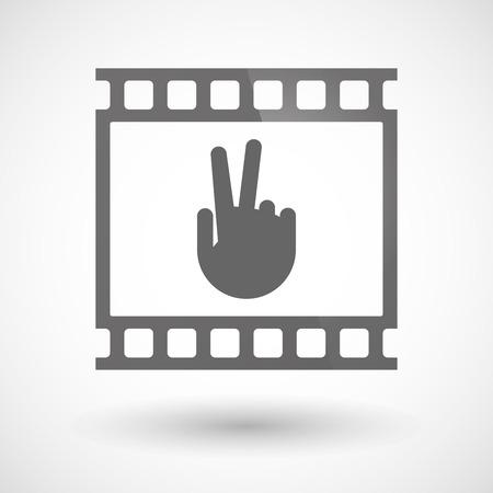 勝利手で写真フィルム アイコンのイラスト  イラスト・ベクター素材