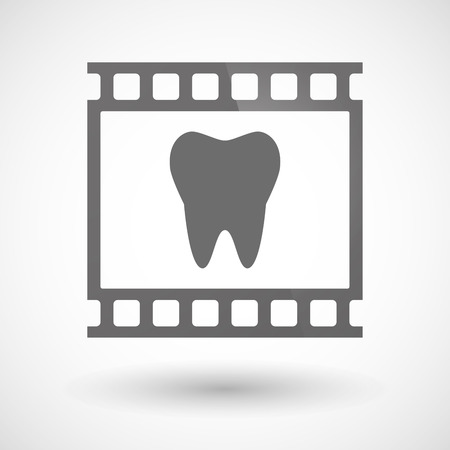photographic film: Illustration of a photographic film icon with a tooth