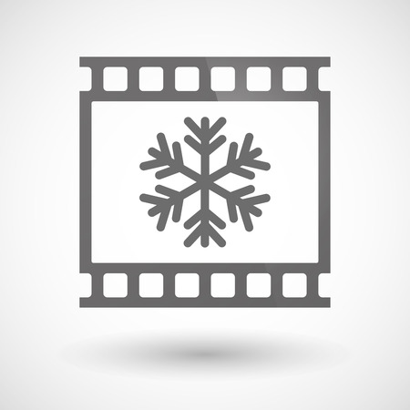 photographic film: Illustration of a photographic film icon with a snow flake Illustration