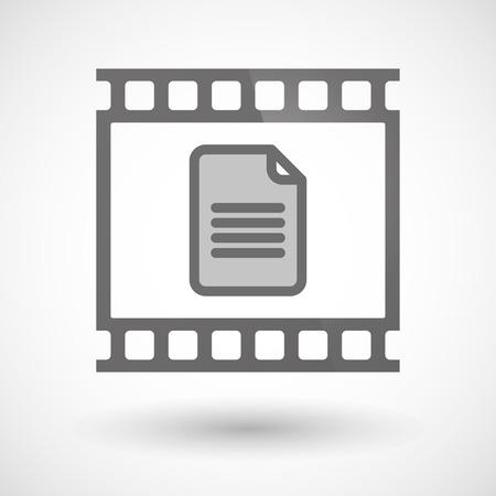 文書を写真フィルム アイコンのイラスト