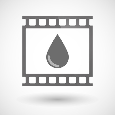 photographic: Illustration of a photographic film icon with a blood drop
