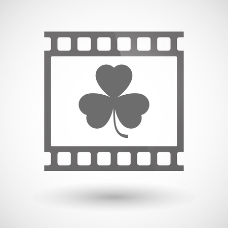photographic film: Illustration of a photographic film icon with a clover