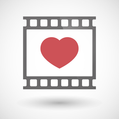 photographic film: Illustration of a photographic film icon with a heart Illustration