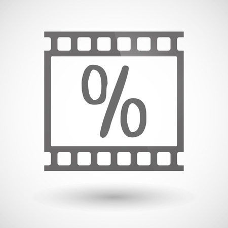 photographic film: Illustration of a photographic film icon with a discount sign