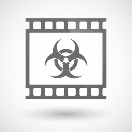 photographic film: Illustration of a photographic film icon with a biohazard sign Illustration