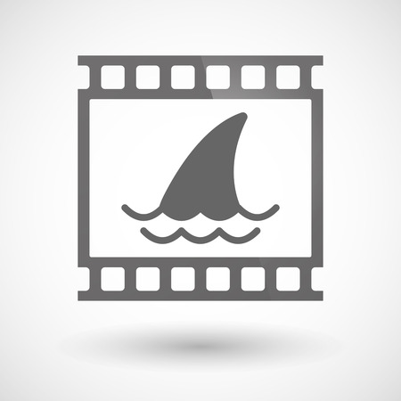 photographic film: Illustration of a photographic film icon with a shark fin Illustration