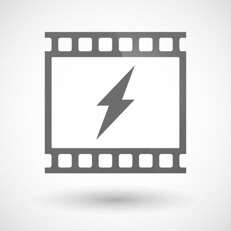 photographic: Illustration of a photographic film icon with a lightning