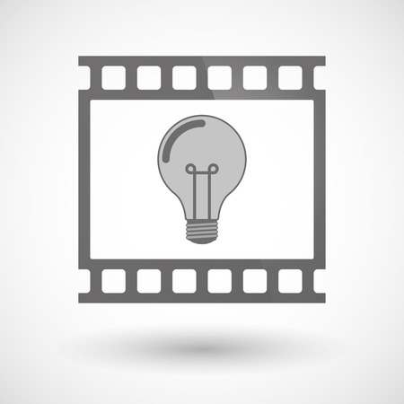 photographic film: Illustration of a photographic film icon with a light bulb