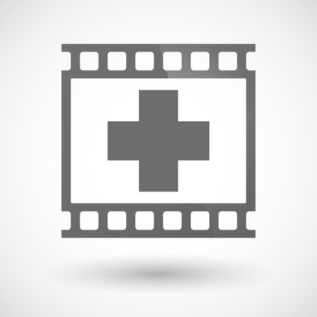 photographic film: Illustration of a photographic film icon with a pharmacy sign Illustration