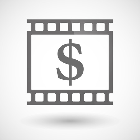 photographic film: Illustration of a photographic film icon with a dollar sign