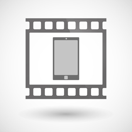 photographic film: Illustration of a photographic film icon with a smart phone