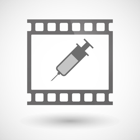 photographic film: Illustration of a photographic film icon with a syringe Illustration