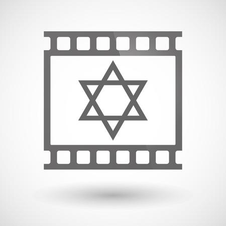 デイヴィッドの星と写真フィルムのアイコンの図
