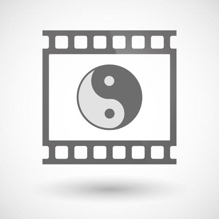 Ying ヤンの写真フィルムのアイコンの図