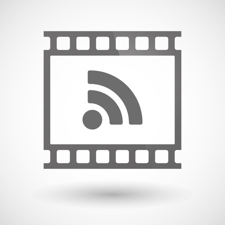 rss sign: Illustration of a photographic film icon with an RSS sign