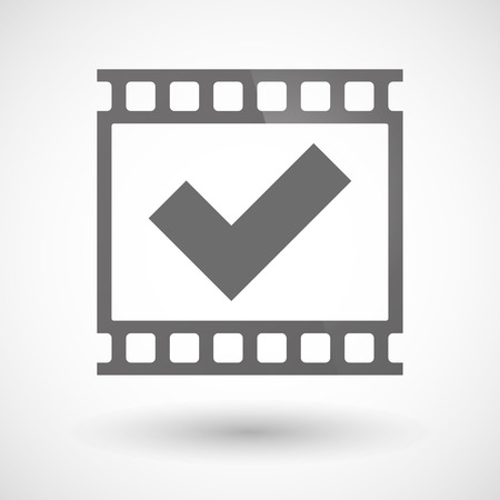 photographic: Illustration of a photographic film icon with a check mark Illustration