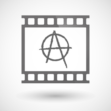anarchist: Illustration of a photographic film icon with an anarchy sign