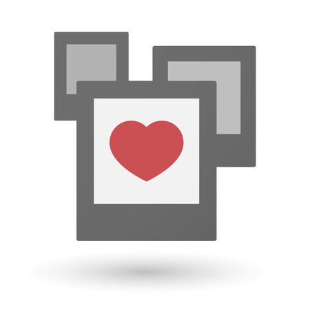 seduction: Illustration of an isolated group of photos with a heart Illustration