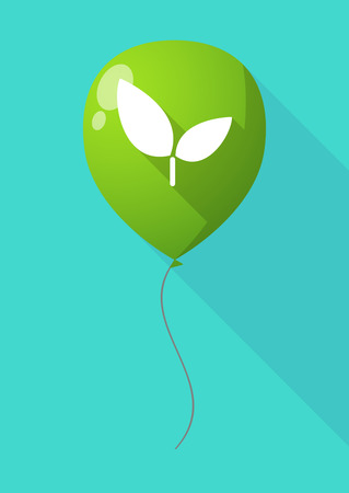 celebrate life: Illustration of a long shadow balloon with a plant Illustration