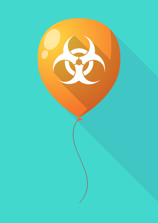 biological hazards: Illustration of a long shadow balloon with a biohazard sign