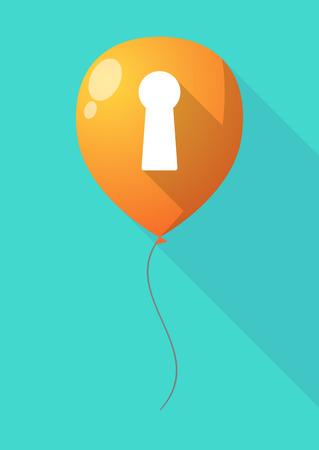 key hole: Illustration of a long shadow balloon with a key hole