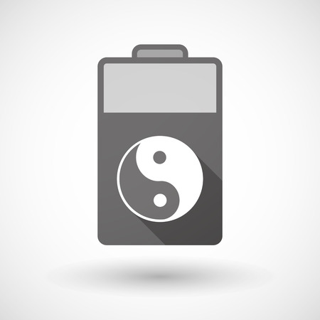 taoism: Illustration of an isolated battery icon with a ying yang